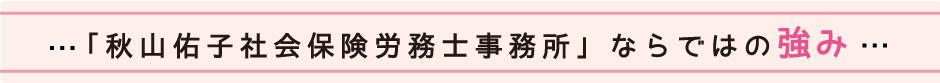 「秋山佑子社会保険労務士事務所」ならではの強み